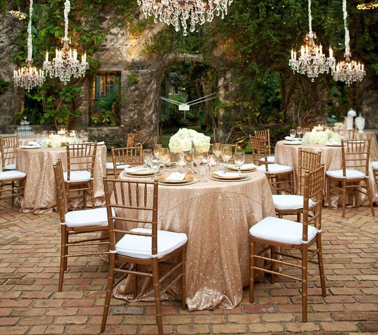 108in Round Table Cloth Sparkly Champagne Tablecloth Beautiful Elegant Wedding Sequin Table Linens/Sequin Table Cloth(China (Mainland))
