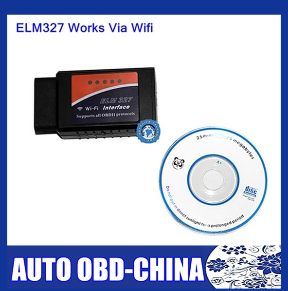 Hot sale ELM327 WIFI Scanner OBDII OBD2 Auto Diagnostic Tool Support Android And Windows Free Shipping(China (Mainland))