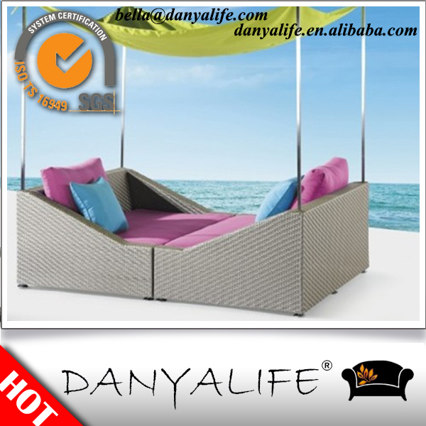 DYBED-D2207 Danyalife Deluxe Customized Resin Wicker Swimming Pool Lounge Chair(China (Mainland))