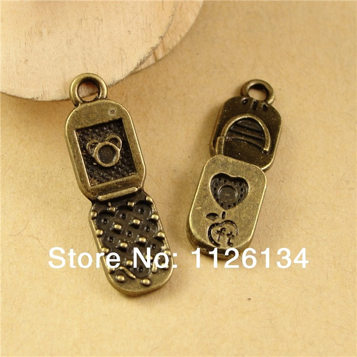 A2517 Antique Bronze Vintage Charms Pendant Alloy Mobile Phone Fit Jewelry Making(China (Mainland))