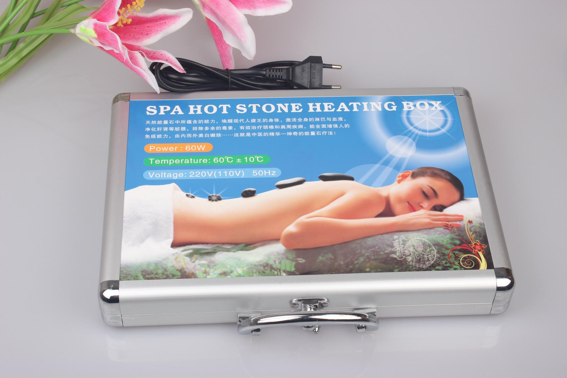 Best selling body Massage stones massage stone set hot stone with heater box(China (Mainland))