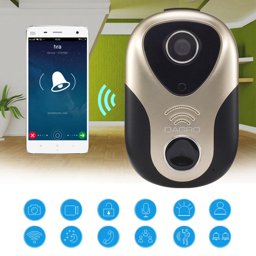 2016 Newest Hot HD 720P Wifi Doorbell Camera Wireless Video Intercom Phone Control IP Door Phone Wireless Door bell IOS Android(China (Mainland))