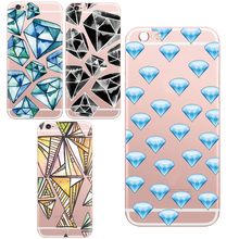 Luxury Diamond Stone Crystal Back Pattern Design Case Cover For iPhone 5 5s / 6 6s Soft Fundas High Quality Cover Phone Shell