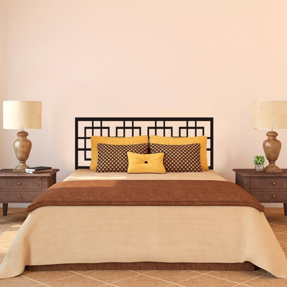 Modern Headboard Wall Decal Master Couple Bedroom Vinyl Art Removable Decor Idea 2 sizes(China (Mainland))