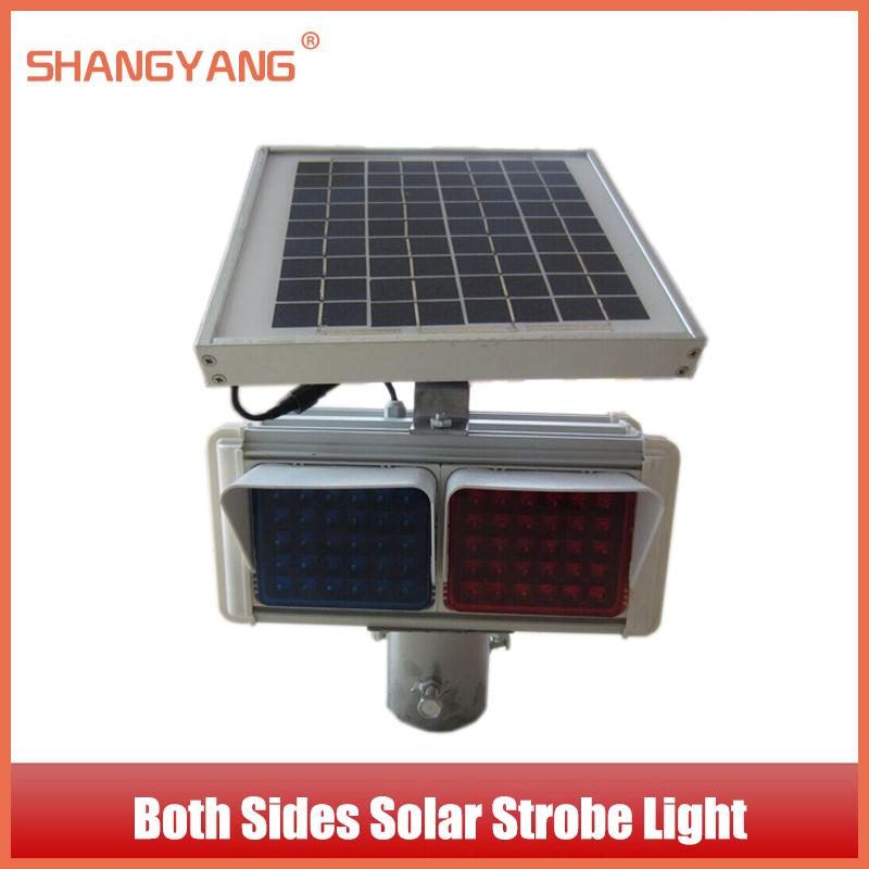 Both Sides Solar Strobe Independent Lampshade Intersection Traffic Lights Solar Warning Light Traffic Facilities SY-TL008(China (Mainland))