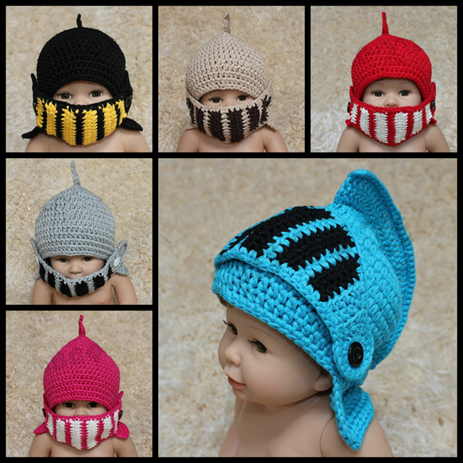 Baby crochet ear flap hat newborn photography props knitted knight girl boy fotografia hats children - Royal baby apparel accessories factory store