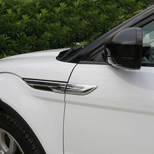 Buy Exterior Accessories range rover evoque side egde fender Shark gill grille vent intake decorative frame cover sticker trim for $28.31 in AliExpress store