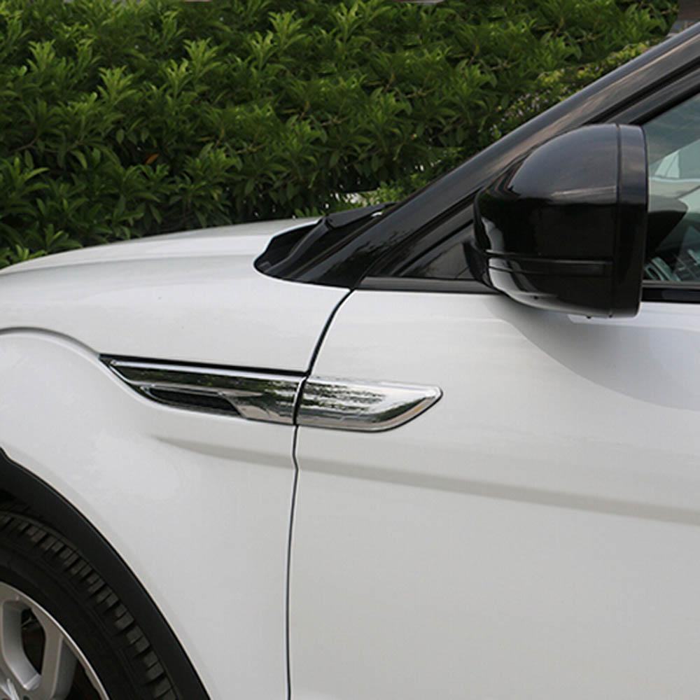 Exterior Cherome Accessories For Range Rover Evoque Side Egde Fender Shark Gill Grille Radiator