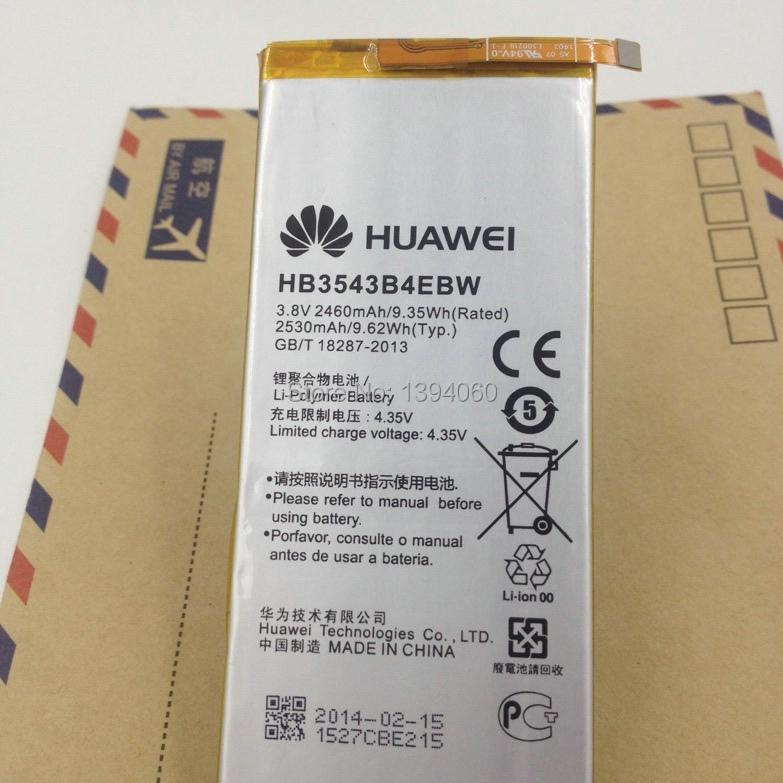 Гаджет  New Original 2460mah battery for Huawei Ascend P7 P7-L07 L09 L00 L10 L05 L11 HB3543B4EBW battery free shipping  None Электротехническое оборудование и материалы