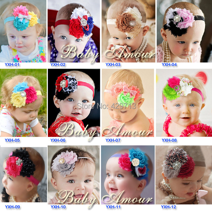 5 pieces/lot Fashion Baby Infant Toddler Headband Flower bowknot HairBand Headwear Baby Gift hair accessory christmas wear()