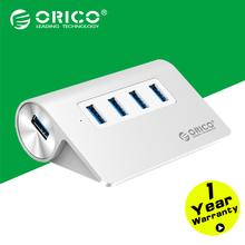 Orico M3H4-SV алюминия высокая скорость мини 4 разъём(ов) Micro USB 3.0 хаб с сертификация CE FCC