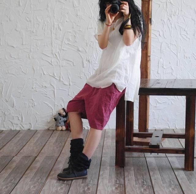 2016 женщин летние брюки оригинальный тонкий сплошной цвет эластичный хлопок белье ...