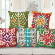 Buy Ethnic Cushions Tatami Nordic Linen Decorative Throw Pillows Sofa Chair Car 45*45 Ethnic Cushions Yellow Coussin fillers for $5.94 in AliExpress store