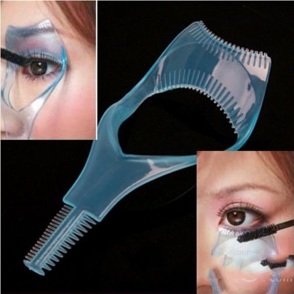 Barterine 3in1 Mascara Applicator Guide Tool Eyelash Comb Makeup(China (Mainland))