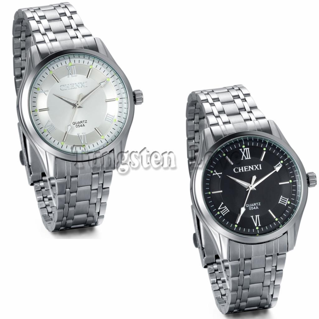 Brand Men's Watch Stainless Steel Relojes Luminous Hours Clock Dress Men Casual Quartz Watch Sport Wristwatch Black/White Dial(China (Mainland))