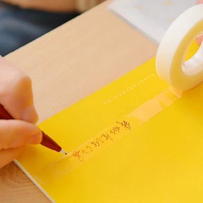 1 Pics Japanese Fabric Paper Scotch Pen Writable Transparent Adhesive Masking Tape Sticker Cute Scrapbook Supplies(China (Mainland))