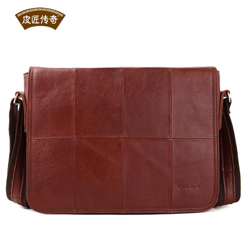 Cobbler Legend Men Brown Top Layer Cowhide Leather Messenger Bags 12090211<br><br>Aliexpress