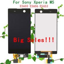 Большие скидки новое поступление для Sony Xperia M5 E5603 E5606 E5653 жк-дисплей сенсорный экран планшета запасных частей черный или белый(China (Mainland))