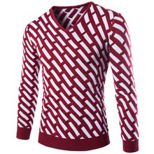 2015 Spring New Fashion Sweater Men Quality Brand British Style Slim Snowflake Tigers Embroidery Pullover Mens Sweaters Blusas(China (Mainland))