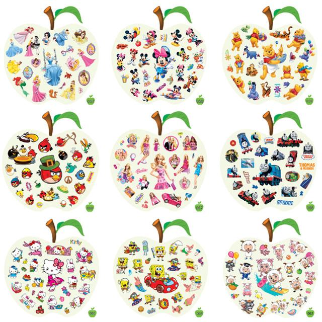 Thomas car truck bus crane child cartoon stickers child real decoration compounds  (mix order)