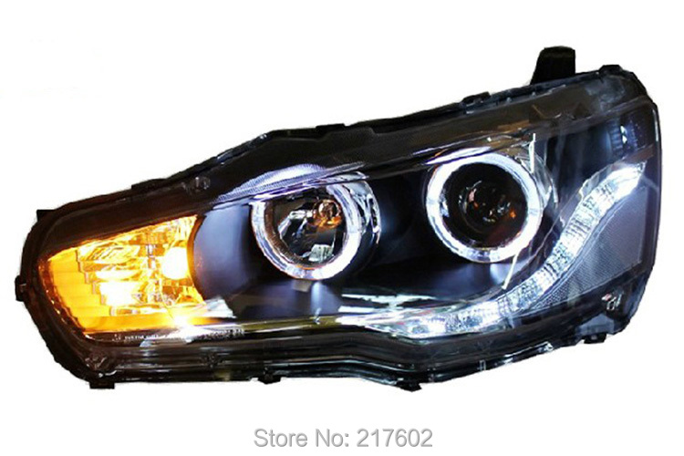 for Mitsubishi Lancer EX head lamps 2010 year with LED bulbs light(China (Mainland))