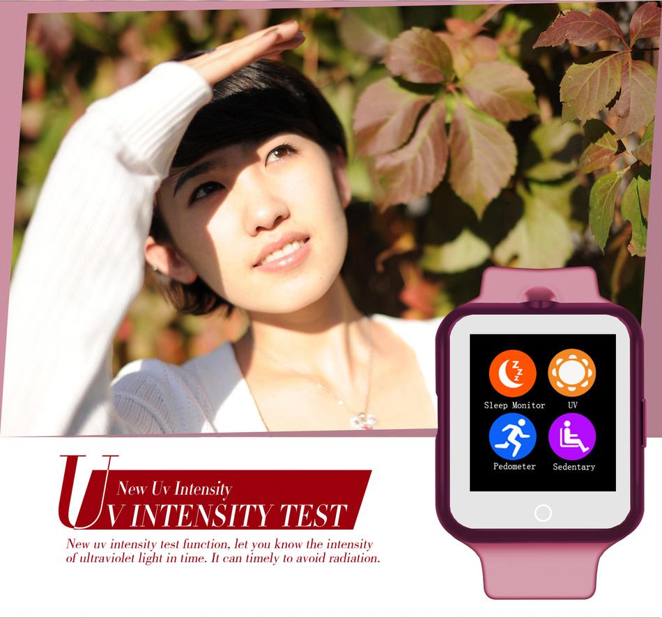 ถูก สมาร์ทนาฬิกาฉบับที่1 D3 MTK6261 1.44นิ้วหน้าจอสัมผัสบลูทูธ3.0กล้องระยะไกลเครื่องวัดอุณหภูมิสนับสนุนการตรวจสอบสุขภาพ
