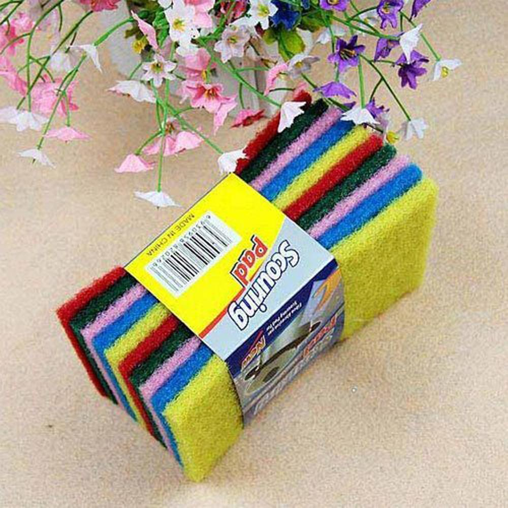 US Fast Shipping 10Pcs Clean Cloth Dishcloth Rag Cleaning Cloth Clear Home Random Color(China (Mainland))