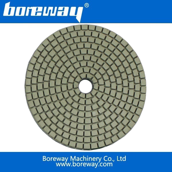 Boreway supply guaranteed high qualitiy diameter 4inch (100mm) diamond polishing pads+Faster delivery and shipping<br>