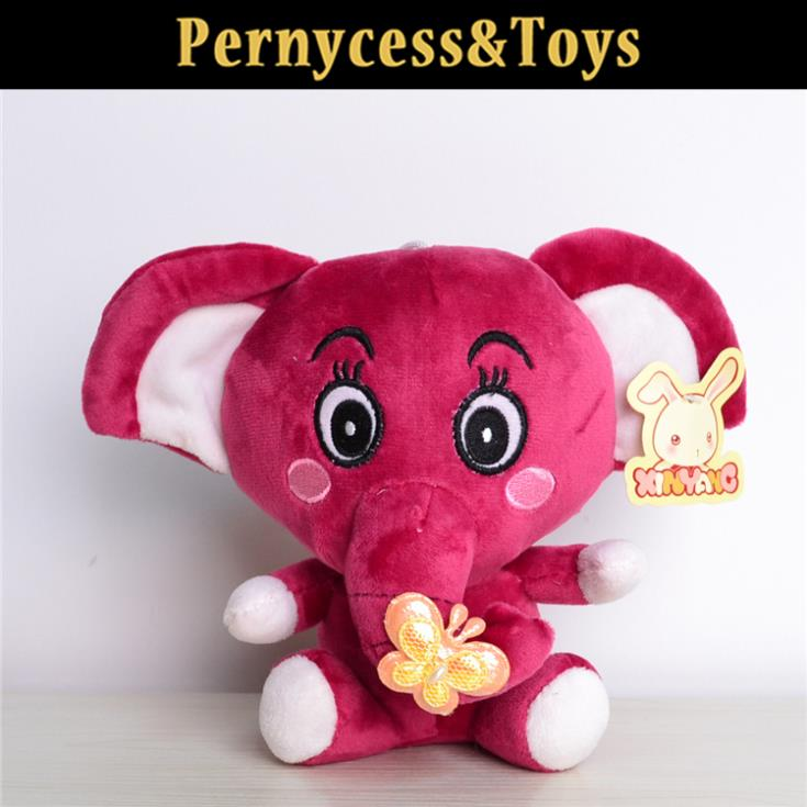 1pcs 20cm Promotions Plush Elephant stuffed animals doll toys for children gifts bulk dropshopping(China (Mainland))