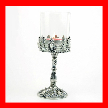 Free shipping silver roman column tall candle cup mousse home decoration accessories candle