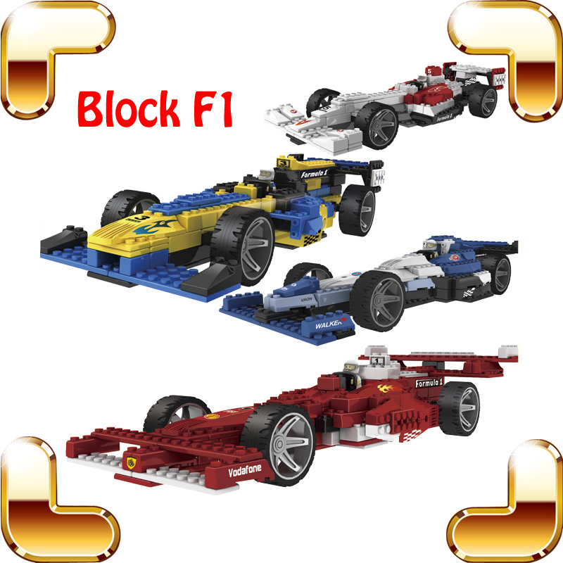 New Coming Gift Blocks F1 Brick Toys Model Racing Car Education Learning Built Fun Plastic Toy Racing Series Block Collection(China (Mainland))