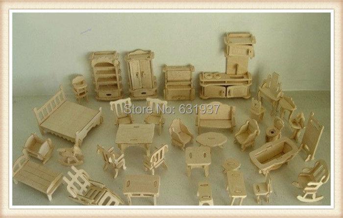... Free-Shipping-DIY-Mini-Furniture-34pcs-set-Kids- ...