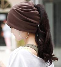 Women turban hat Scarf Beanie Headband 3 in 1 Multi hair accessories for Spring Autumn Casual Knitted Cap GS-AHT003(China (Mainland))