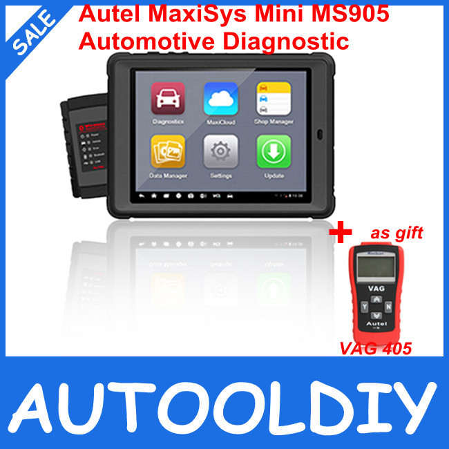 Super Performance Autel MaxiSys Mini MS905 Automotive Diagnostic and Analysis System with LED Touch Display With Free Shipping(China (Mainland))