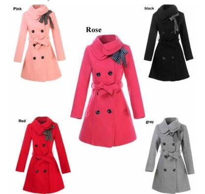 fashion Women wool coat Slim trench winter clothes outerwear long ladies double breasted overcoat - discount shop store