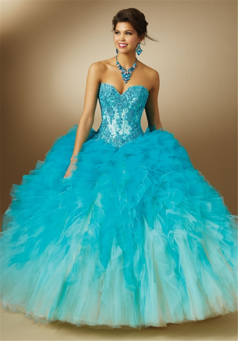 Blue Sweet 16 Dresses - RP Dress