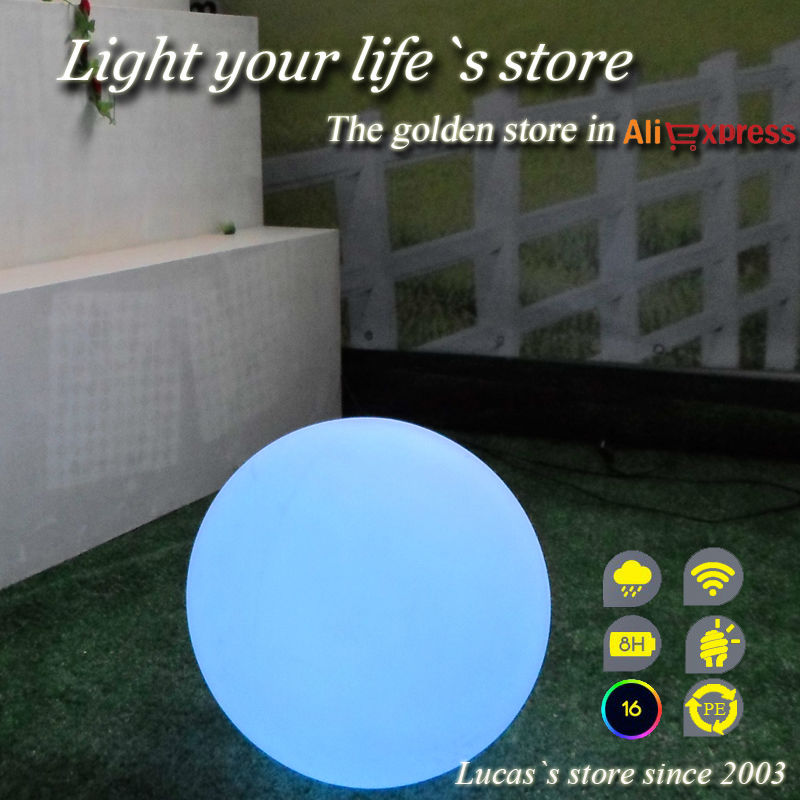 30cm Waterproof Outdoor Rechargeable Remote Control LED Ball<br><br>Aliexpress