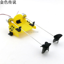DIY handmade accessories boat ship kit electric two motor propeller power driven for Remote Control Boat(China (Mainland))