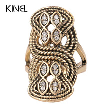 Buy Unique Vintage Wedding Ring Turkey Crystal Jewelry Big Size 10 Rings Women Lnlay Accessories 2016 New for $1.41 in AliExpress store
