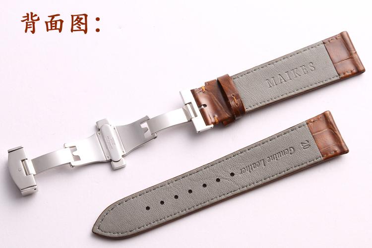 Maikes высокое качество натуральная кожа часы 18 мм 20 мм 22 мм бабочка пряжка кожи теленка ремешок для Longines