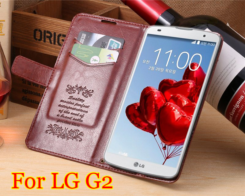 2014 Luxury Wallet Design Leather Flip Case LG G2 Mobile Phone Cover Bag Card Slots Stand Items,8colors - Win-Win International Trading Co.,Ltd store