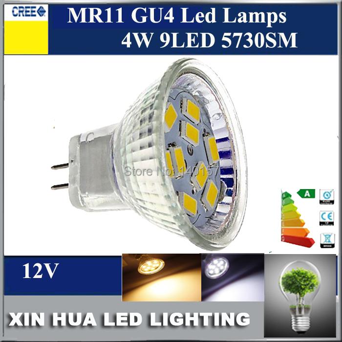 Super brightness 12V led lamp 5W LED Bulb Lamp 9leds SMD5630 MR11 GU4 led bulb lamp, Warm White/Pure White free shipping(China (Mainland))