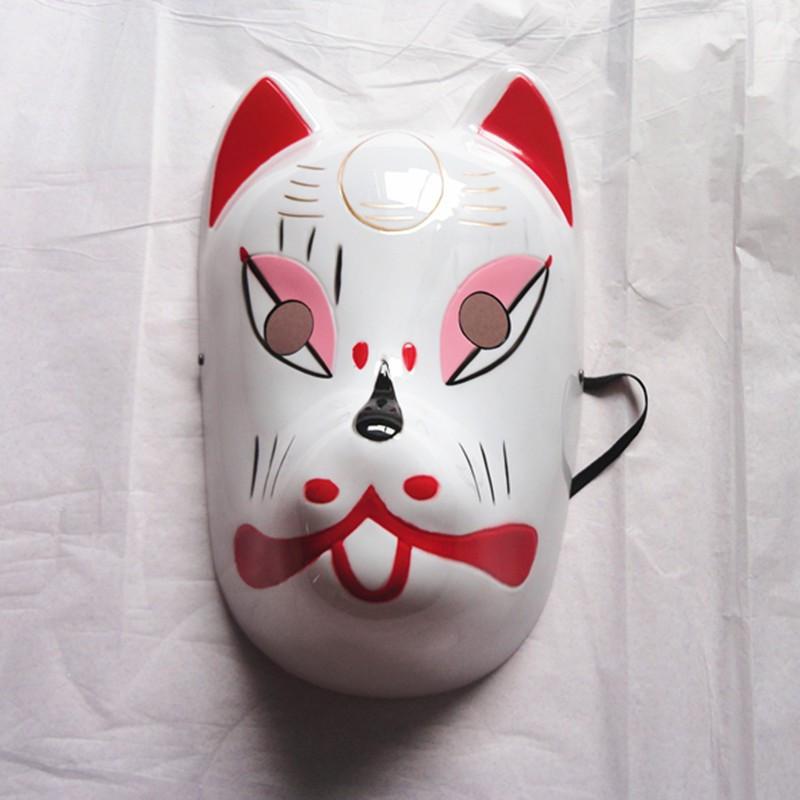 Naruto Hatake Kakashi Anbu Japanese Fox Mask Animal Hand-Painted Cartoon Face Mask Demon Kitsune Cosplay Masquerade Carnival (2)