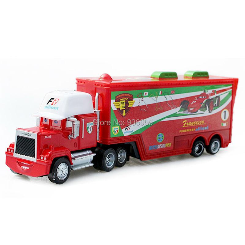 Brand New Free Shipping Pixar cars 2 Toys Diecast alloy F1 Francesco Bernoulli Hauler Mack cars plastic truck(China (Mainland))