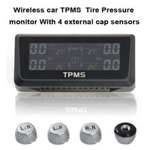 Wireless Tire Pressure Monitoring System Car TPMS with 4 External Car sensor