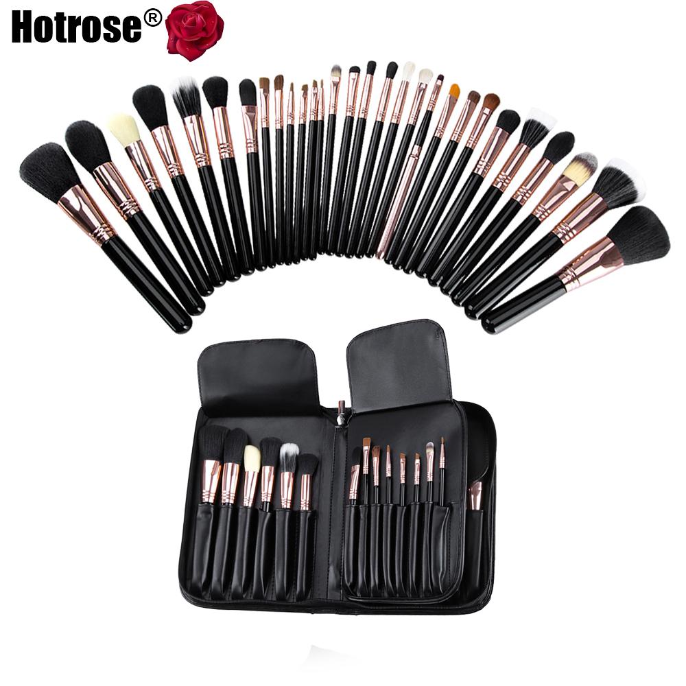 29pcs cosmetic Makeup Brush Set Pro Wool Synthetic Hair Makeup Brushes Foundation Eyeshadow Lip Brushes Studio School Mandatory(China (Mainland))