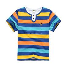 Bambini di estate dei capretti maglietta dei ragazzi a righe 4 colori Anni bambini ragazzi vestiti di estate ragazzi tees t shirt spedizione gratuita(China (Mainland))
