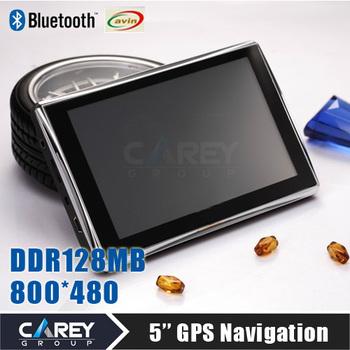 5 inch GPS navigation Bluetooth AV-IN 4GB DDR 128 MB  800*480 CE6.0 GPS500209
