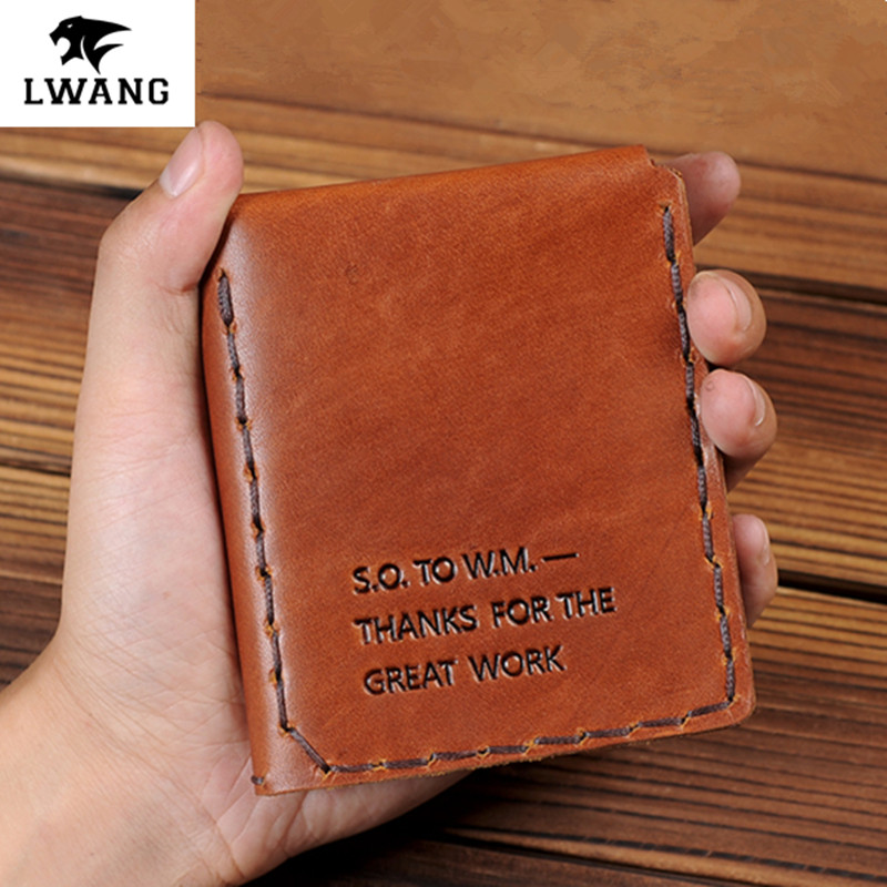 5 Colors The Secret Life Of Walter Mitty Genuine Leather Wallet  Vintage Handmade Crazy Horse Leather card holder purse wallet