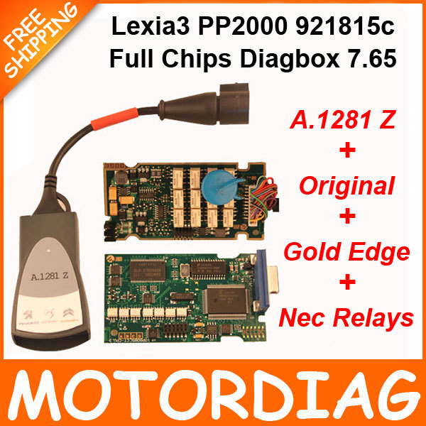 New! Original Lexia 3 PP2000 Full Chip 921815C Lexia3 Citroen Peugeot Diagnostic Tool with Diagbox 7.65 Lexia-3 PSA XS Evolution(China (Mainland))